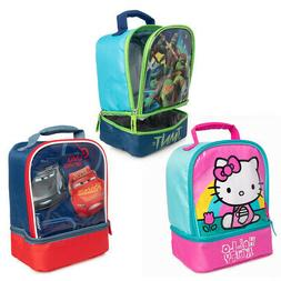 Thermos Lunch Bag For Kids Hello Kitty, Cars, TMNT Soft Insu