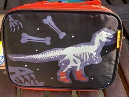 Kids Toddler Boys Lunch Bag Dinosaur Blue Red Insulated