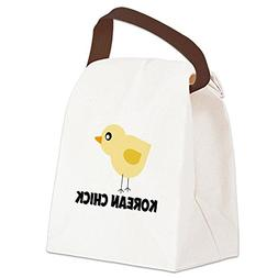 CafePress - Korean Chick Canvas Lunch Bag - Canvas Lunch Bag