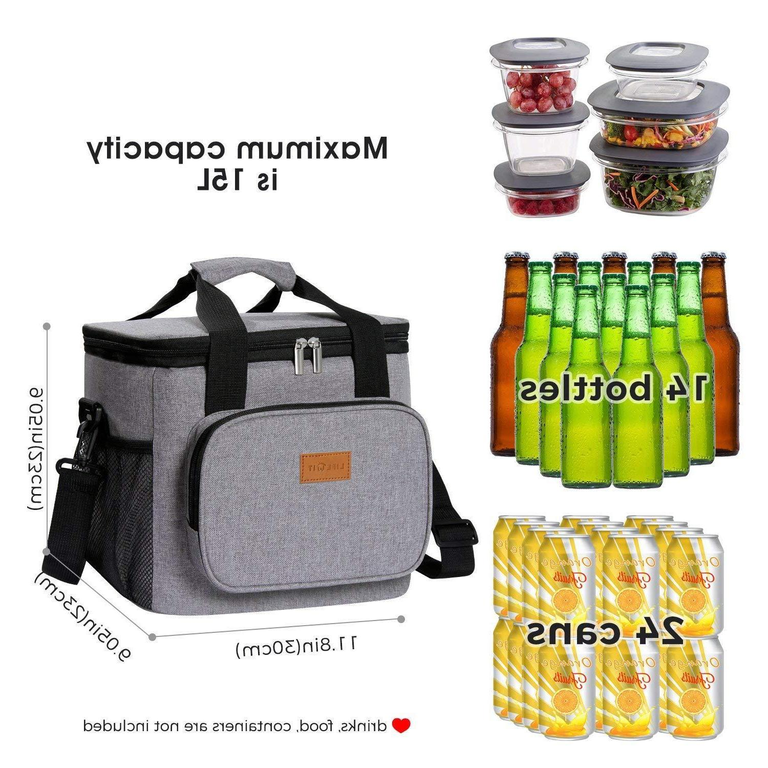 Lifewit Insulated Lunch Bag Box Storage for Beach/Picnic/Camping