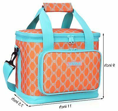 MIER Insulated Lunch Women, Leakproof Liner, Orange