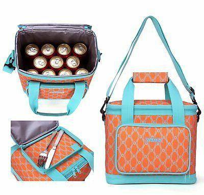 MIER 16 Insulated Bag for Women, Soft Orange