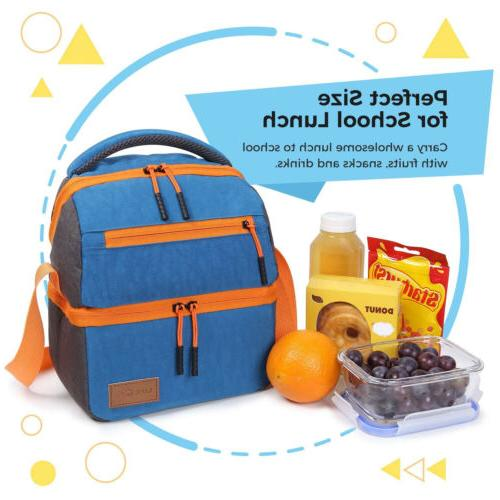 Lifewit Lunch Bag School Lunch for Girls, Kids Blue