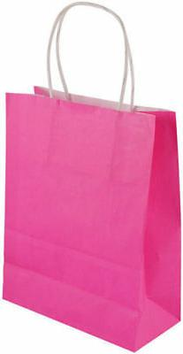 6 Large Hot Pink Party Bags - Handles Luxury Hen Party Sweet