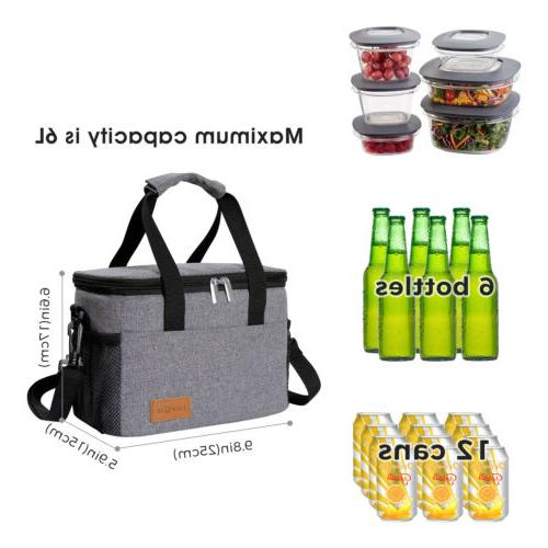 Lifewit Lunch Box Bag Bento Bag Men Women Gray