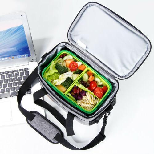 Lifewit 6L Lunch Box Thermal Bento Bag Men Women Gray