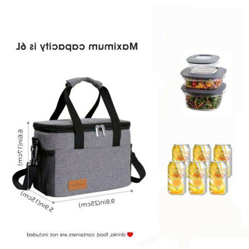 Lifewit Insulated Box Bag Bento Men Women Gray