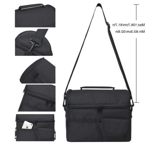 8L Insulated Bag Cooler Picnic Travel Food Box Women Carry