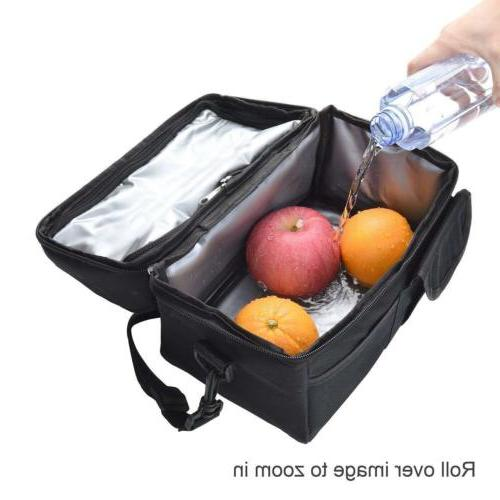 8L Large Lunch Bag Cooler Food Box Tote Carry Bags