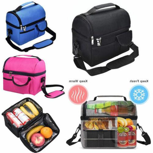 insulated lunch box tote men women travel