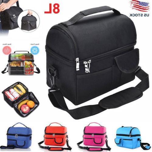 8l large insulated lunch bag cooler picnic