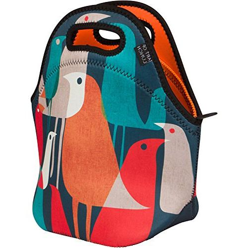 04ba2ecc8ea8 ART OF LUNCH Insulated Neoprene Lunch Bag for Women, Men and Kids -  Reusable Soft Lunch Tote for Work and School - Design by Budi Kwan - Flock  of ...