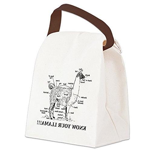 CafePress - 925746_10477594_llama_orig Canvas Lunch Bag - Ca