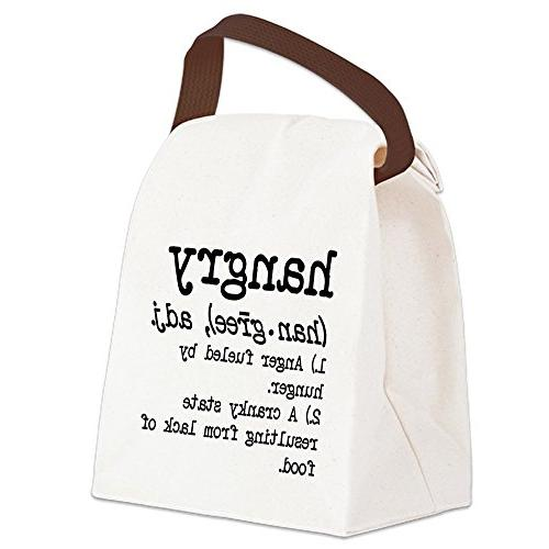 CafePress - Hangry: Defined Canvas Lunch Bag - Canvas Lunch