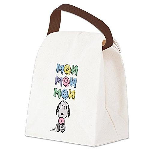 CafePress - Snoopy - Nomnomnom - Canvas Lunch Bag with Strap