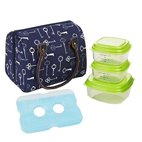 Fit & Fresh Jackson Women's Insulated Lunch Bag with Portion