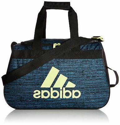 adidas Diablo Duffel Bag, Bright Cyan Subdued/Black/Frozen Y