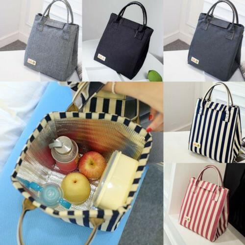 Adults Ladies Girls Portable Insulated Lunch Bags Box Picnic Tote