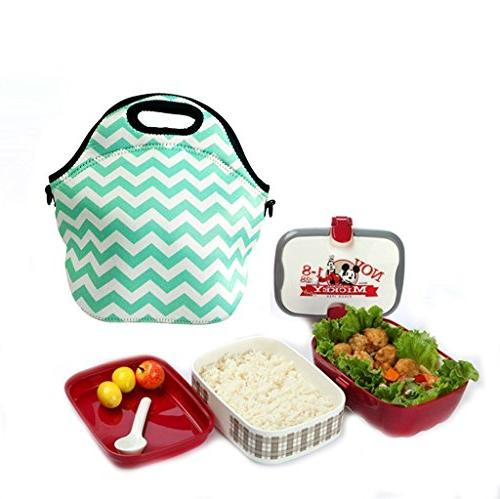 Amerzam Lunch Bags/Lunch Boxes, Picnic Lunch Bag Tote Adjustable Crossbody