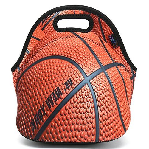 ICOLOR Basketball Lunch Bag Tote Handbag lunchbox Food Gourmet Tote For