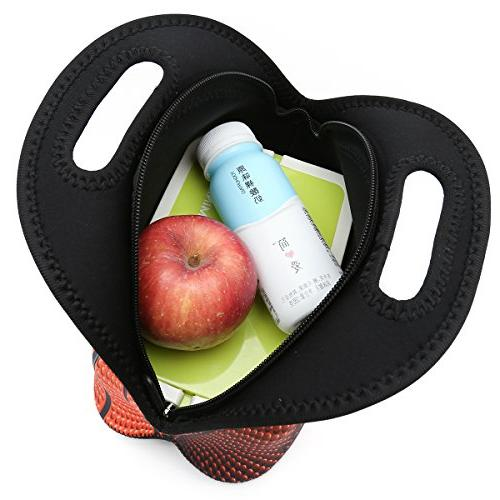 ICOLOR Neoprene Lunch Bag Handbag lunchbox Container Gourmet Tote For