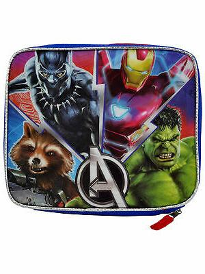 boys avengers insulated lunch bag adjustable shoulder