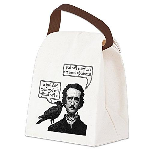 cafepress poe boy canvas lunch bag strap handle