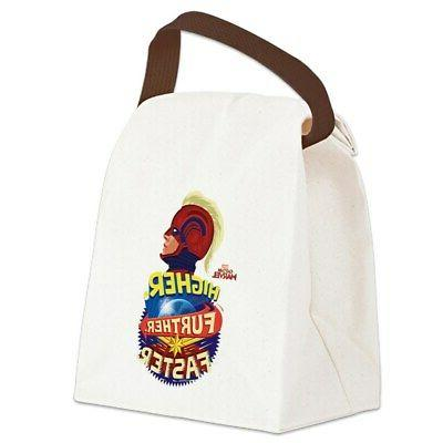 captain marvel canvas lunch bag with strap