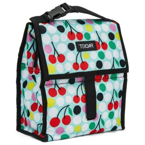 Cherry Dots Freezable Lunch Bag For Home Kitchen Storage Org