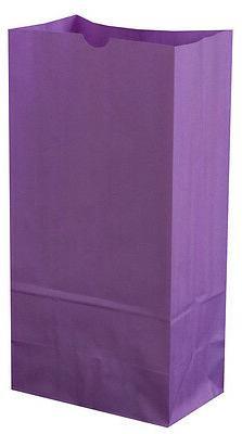 Colored Paper bags PURPLE Bags AS LOW AS 25¢ ea BIRTHDAY Lu