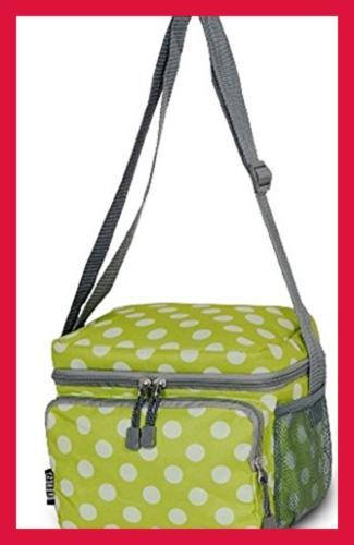 cooler lunch bag onesize green dots mens