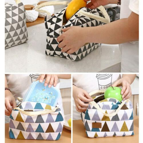 Cute Ladies Kids Portable Insulated Bag Box Picnic Tote Cooler