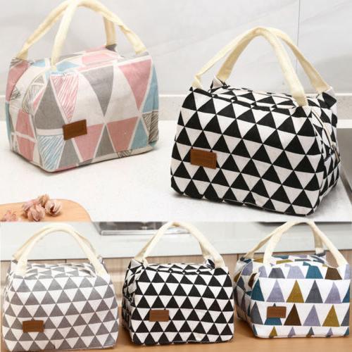 HOT Women Ladies Girls Kids Portable Insulated Lunch Bag Box