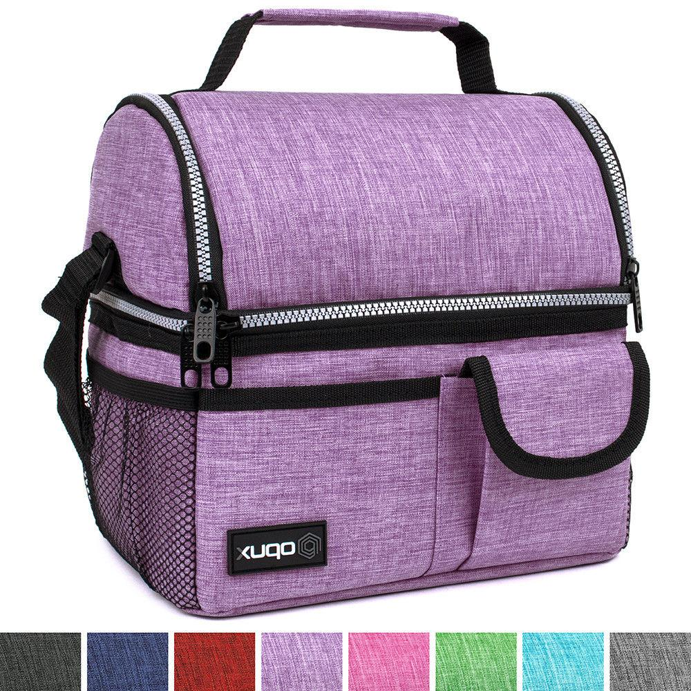 OPUX Deluxe Compartment Double Lunch Bag