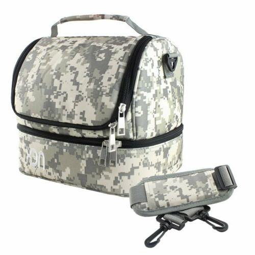 School Lunch Bag Large Capacity Insulated Potable Adjustable
