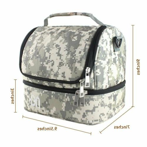 Insulated Bag Thermal Bento Bag for Women Camouflage Color