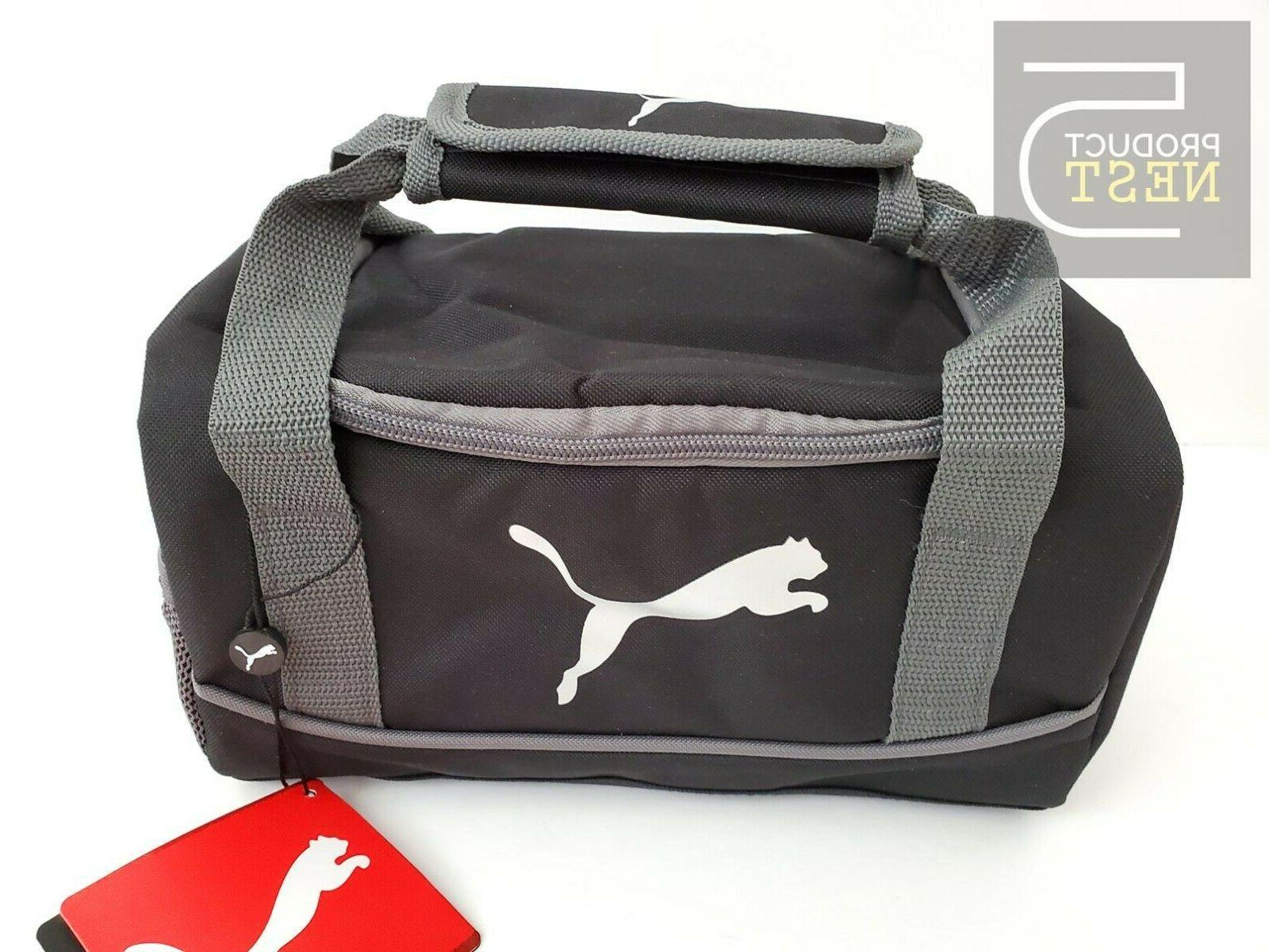 duffel lunch bag black