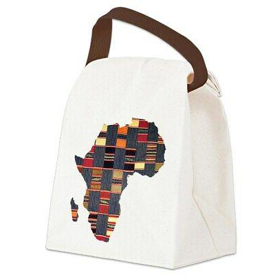 ethnic african tapestry canvas lunch bag