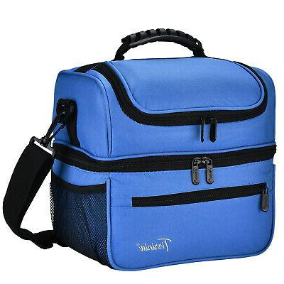 Tirrinia Large Adult Insulated Lunch Bag Totes Cooler Contai