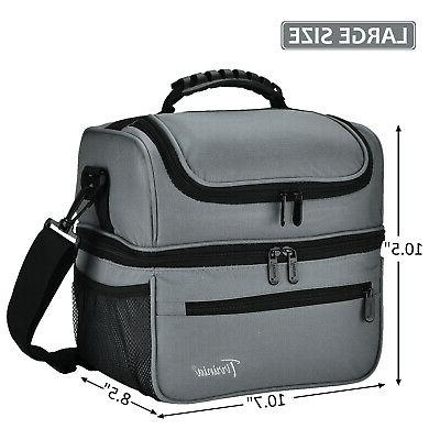 Tirrinia Adult Lunch Bag Totes Cooler Container Double