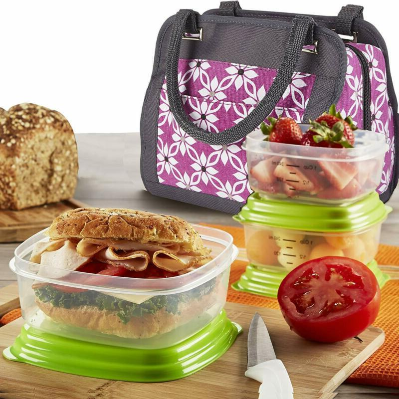 900b1e8589a Fit & Fresh Fit Fresh Insulated Lunch Bag Kit With Container Set ...