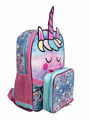 "Girls Unicorn 16"" with Insulated Bag Pink"