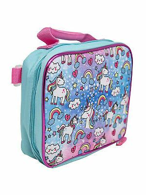 Girls Unicorn with Detachable Insulated Bag Pink