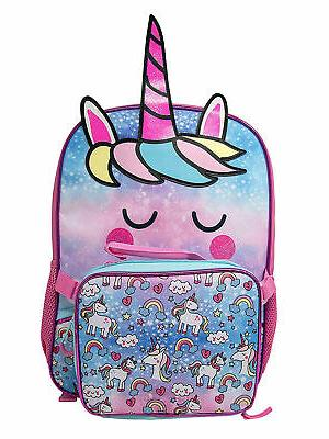 Girls Unicorn with Detachable Bag Blue