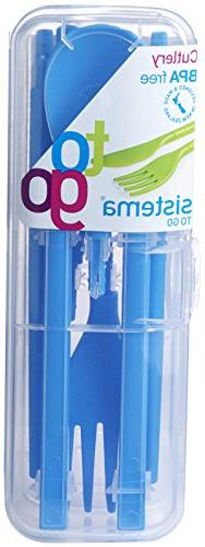 Sistema To Go Collection Cutlery Set, Color Received May Var