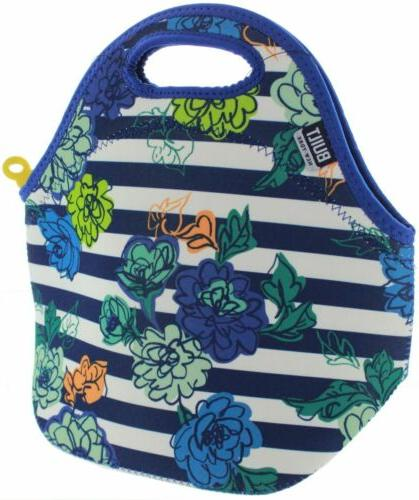 Built Gourmet Insulated Neoprene Lunch Tote - Stripe Blue
