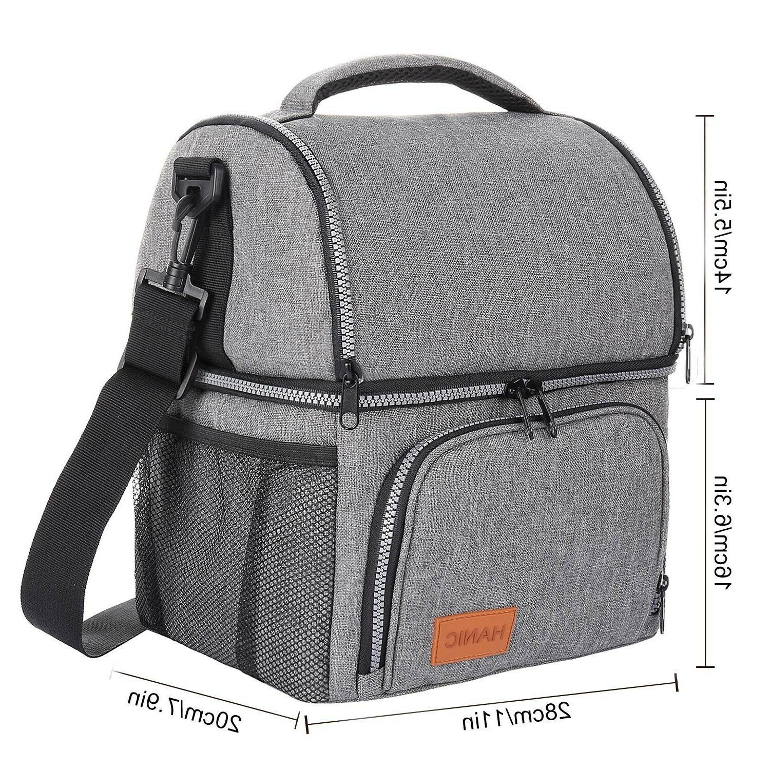 Hanic Insulated Lunch Bag For Women Adult Lunchbox W Strap
