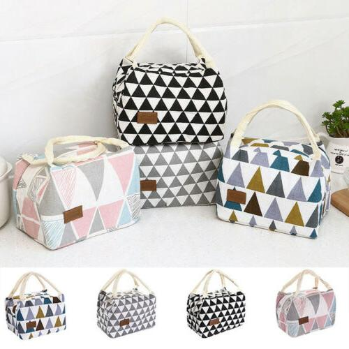 Women Ladies Girls Kids Portable Insulated Lunch Bag Box Pic