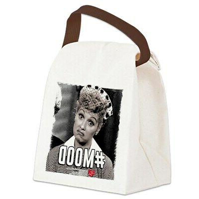 i love lucy mood canvas lunch bag