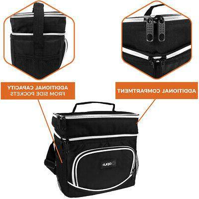 Insulated Dual Compartment Lunch Shoulder